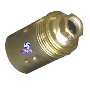 Portalamparas metalico liso E-14 -