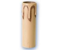 Funda vela 90 mm gota envejecida crema E-14 -