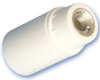 Portalamparas termoplastico liso E-14 Blanco -
