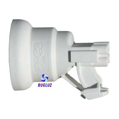 Portalamparas termoplastico pinza E-27 Blanco