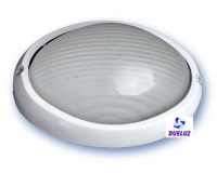 Aplique ovalado aluminio blanco -