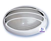 Aplique ovalado aluminio blanco con rejilla -