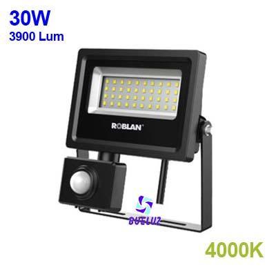Proyector LED con sensor 50W alto brillo 3000K -