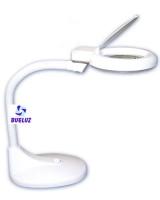 Flexo de sobremesa Bajo Consumo 12W Blanco con lupa  -