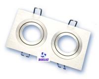 Aro empotrar rectangular doble basculante aluminio