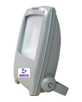 Proyector LED curvo 10W alto brillo 3000K -