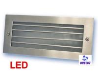 Aplique aluminio empotrar Niquel Satin LED 5W