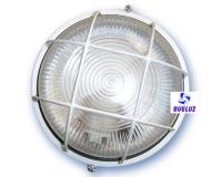 Aplique redondo aluminio blanco -