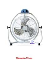 Ventilador Suelo Industrial  35 cm diametro -