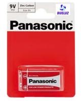 Pila Panasonic Salina (9V) 6F22 Roja -