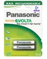 Pila Recargable LR03 (AAA) Panasonic 750 mAH