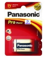 Pila Panasonic Alkalina (9V) 6LR61 PRO-ORO -