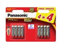 Pila Panasonic Alkalina (AAA) LR03 PRO-ORO (8Und) -
