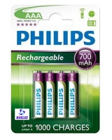 Pila Recargable LR03 (AAA) Philips 700 mAh -
