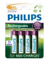 Pila Recargable LR6 (AAA) Philips 2100 mAh -