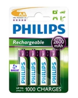 Pila Recargable LR6 (AAA) Philips 2600 mAh -