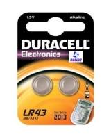Pila Alkalina Botón Duracell LR43 1,5V -