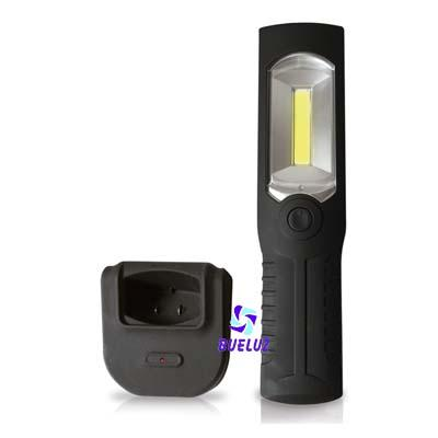 Linterna portatil de LED recargable con base   -