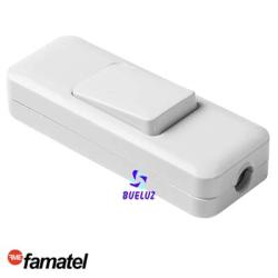 Interruptor de paso blanco