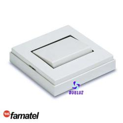 Conmutador Superficie 65x65mm Blanco