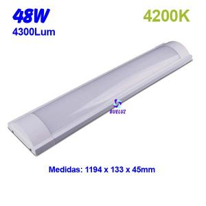 Regleta Led superficie 48W 4200K