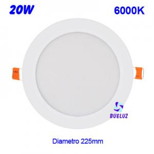 DOWNLIGHT LED 20W EXTRAPLANO BLANCO 6000K