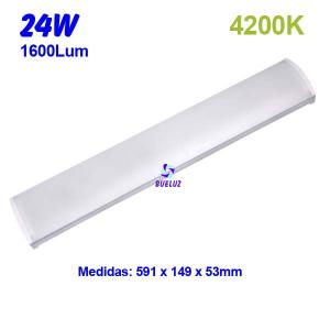 Regleta Led superficie 24W 4200K