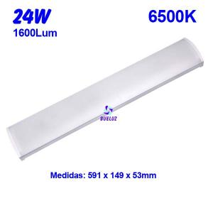 Regleta Led superficie 24W 6500K