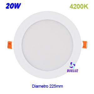 DOWNLIGHT LED 20W EXTRAPLANO BLANCO 4200K