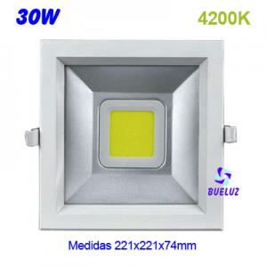 DOWNLIGHT LED 30W COB CUADRADO 4200K