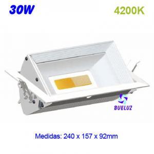 DOWNLIGHT RECTANGULAR LED COB 30W 4200K