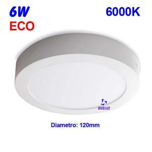 Downlight superficie redondo LED 6W 6000K