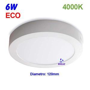 Downlight superficie redondo LED 6W 4000K