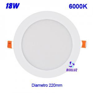 DOWNLIGHT LED 18W EXTRAPLANO BLANCO 6000K