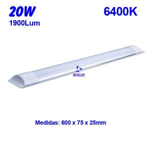 Regleta Led superficie 18W 6000K