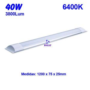 Regleta Led superficie 40W 6000K
