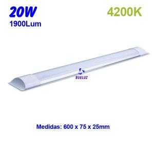 Regleta Led superficie 20W 4200K