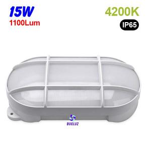 Aplique ovalado LED 15W 4200K Blanco