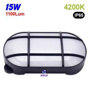Aplique ovalado LED 15W 4200K Negro