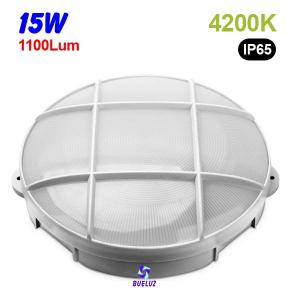 Aplique redondo LED 15W 4200K Blanco