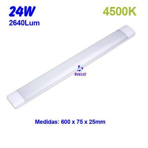 Regleta Led superficie 24W 4500K