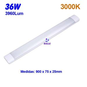 Regleta Led superficie 36W 3000K