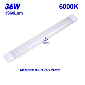 Regleta Led superficie 36W 6000K