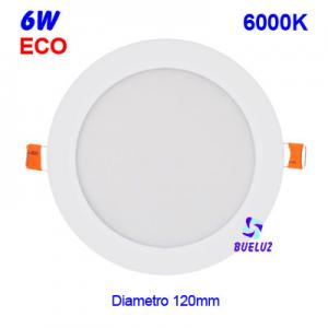 DOWNLIGHT LED 6W EXTRAPLANO BLANCO 6000K