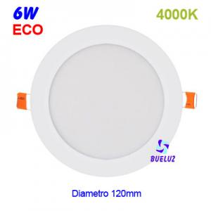 DOWNLIGHT LED 6W EXTRAPLANO BLANCO 4000K