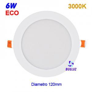 DOWNLIGHT LED 6W EXTRAPLANO BLANCO 3000K