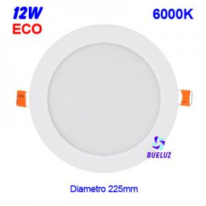 DOWNLIGHT LED 12W EXTRAPLANO BLANCO 6000K