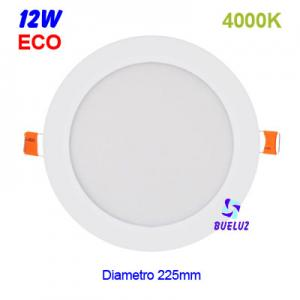 DOWNLIGHT LED 12W EXTRAPLANO BLANCO 4000K