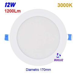 Downlight LED 12W extraplano Blanco 6000K -