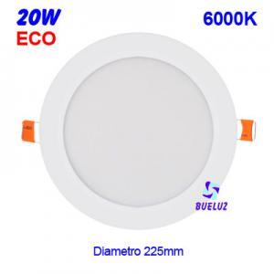 Downlight LED 20W extraplano Blanco 6000K -
